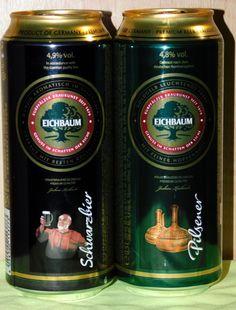Set Empty Cans Of German Beer for Ukraine EICHBAUM 500 ml, 2016 - 2 pcs.