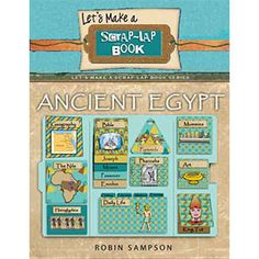 The Ancient Egypt Scrap-Lap Book Kit contains 30 Scrap-Lap Book templates. The colors are desert golds, browns and Nile River blue can be used with any unit study, curriculum, or text book.