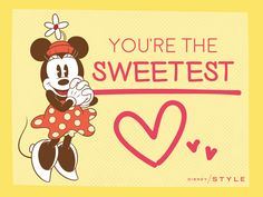Cute Mickey & Friends Valentines To Share With Your BFFs. We love this sweet Minnie Mouse one!