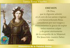 MISIONEROS DE LA PALABRA DIVINA: SANTORAL - SANTA ROSA VITERBO