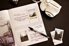 Gracie Bella Butterfly: Inspirational Journals I need to do this once I get my Polaroid!