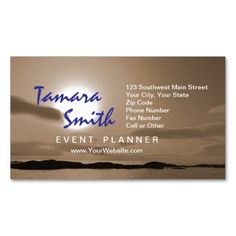 White And Brown Event Planner Business Card Templates This Card