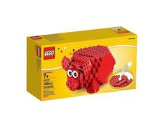 Cute Red LEGO Piggy Coin Bank // 10 UNIQUE & Cool Piggy Banks That Will Make You Save Like A Mad Man