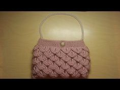 Crochet How To #Crochet crocodile stitch clutch purse Tutorial #5 - YouTube