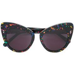 f289a1f24 Stella Mccartney Eyewear painted cat eye sunglasses (€265) ❤ liked on  Polyvore featuring accessories, eyewear, sunglasses, black, cat eye  sunglasses, ...