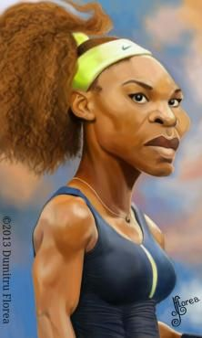 Serena Williams FOLLOW THIS BOARD FOR GREAT CARICATURES OR ANY OF OUR OTHER CARICATURE BOARDS. WE HAVE A FEW SEPERATED BY THINGS LIKE ACTORS, MUSICIANS, POLITICS. SPORTS AND MORE...CHECK 'EM OUT!! Anthony Contorno Sr