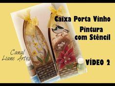 Pintura Com Stencil em MDF Caixa porta vinho VIDEO 2 - YouTube
