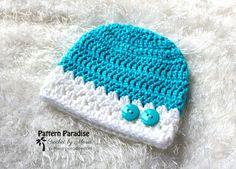 Gratis haakpatroon: knus als een muts en slofjes Baby Booties Free Pattern, Crochet Baby Hat Patterns, Mittens Pattern, Knitting Patterns, Crochet Baby Booties, Knit Or Crochet, Free Crochet, Crochet Hats, Crochet Toddler Hat