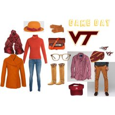 Hokie game day attire...love that peacoat!!  Not sure about that hat...it'll be another 20 years!