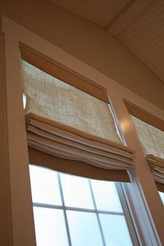 Roman Shades - I'd love to add roman shades to my bedroom windows. This is a tutorial that teaches how.