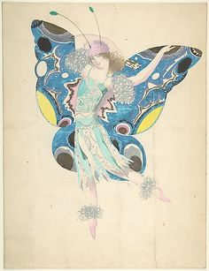 Sergey Chekhonin (Russian, 1878–1936). Female dancer in fairy costume, ca. 1920.The Metropolitan Museum of Art, New York. Gift of Nikita D. Lobanov, 1968 (68.701.7) #dance