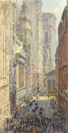 Childe Hassam 1859-1935 | American Impressionist painter | Lower Manhattan