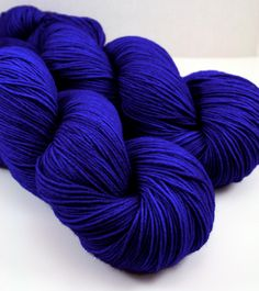 Tickle Toes in Cobalt Hand Dyed Sock Yarn Fingering by LushMommy, $21.00