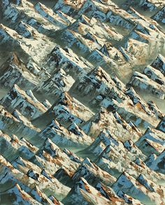 hypnotic patterned landscapes by Neil Raitt