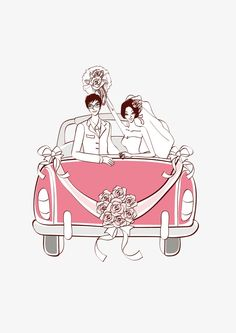 My Wedding Wedding Car Wedding Car, Wedding Couples, Cute Couples, Cute Couple Cartoon, Couple Illustration, Cartoons, Character, Instagram, Wedding Boutonniere