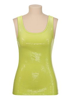Mini Sequin Tank (original price, $24) available at #Maurices.  Own three of these in various colors.