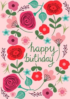 Pink Floral Birthday | Licensing | Drawn to better | Astound.us