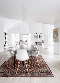 White + rug + art