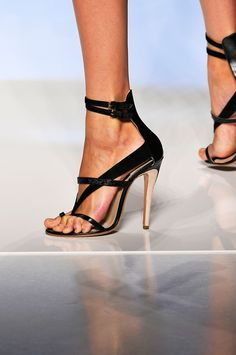 Etro Black Patent Leather High Heel Strappy Sandals Spring Summer 2012 #Shoes #Heels