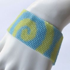 Blueberry Lime Sorbet ... Peyote Bracelet . Beadwoven by time2cre8
