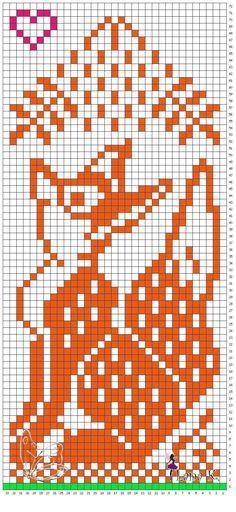 Fox mittens pattern
