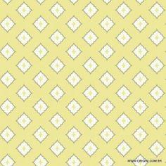 Papel de parede Decoração Geométrico Origini 204-22, Wallpaper, Importado, Lavável, Superfície lisa, Amarelo. Cinza e Branco