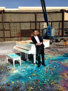 Brendon Urie behind the scenes of this is gospel the piano version