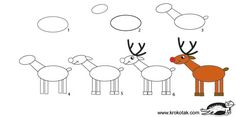 How to draw: Santa, Reindeer and Angel Christmas Cards To Make, Noel Christmas, Christmas Crafts, Reindeer Christmas, Drawing Lessons For Kids, Art Lessons, Reindeer Drawing, How To Draw Santa, How To Draw Reindeer