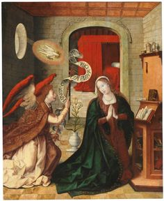 1501-1535, León Picardo, La Anunciación - Colección - Museo Nacional del Prado.Óleo sobre tabla, 171x139 cm. Catholic Art, Religious Art, Medieval Art, Renaissance Art, Photography Illustration, Art Photography, Madonna, Blessed Mother, Office Art