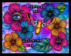 """anjas-artefaktotum: """"Flowers are watching you"""" with Designs by Ryn Stamps"""