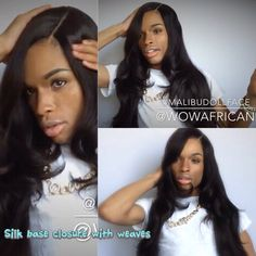Have you seen the new video from @malibudollface ?  He is rocking our Silky Straight Brazilian Virgin Hair Silk Base Closure with 4pcs Weaves[WB34],Gorgeous !!     Link:http://www.wowafrican.com