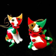 Goebel  Cat Ornament CHRISTMAS  Cats by Rosina Wachtmeister~COLLECTORS ITEM