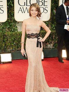 Sarah Hyland, elegantly dressed at the Golden Globes