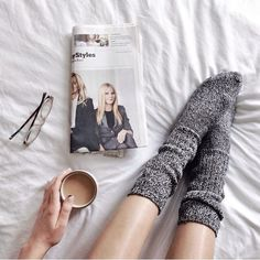 One of the biggest reasons we love fall = socks in bed!