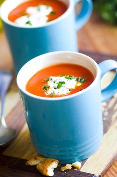 Roasted Tomato & Garlic Soup