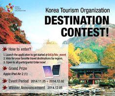 Escolha seu destino e concorra a um Ipad na Promoção da Korean Tourism Organization