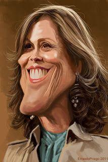 Sigourney Weaver #Caricature #FunnyFaces