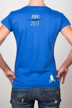 Women T-Shirts : Ladies Blue Tee - Graphic Design