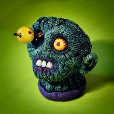 Zombie #zombie #sculpey #sculpt #acryl #acrylic #paint #supersculpey #sculpture #nail #eye #macomix Super Sculpey, Zombie