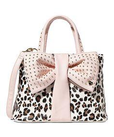 Loving this Cream Leopard Bow Tie Shopper Satchel on #zulily! #zulilyfinds