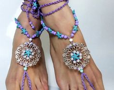 Barefoot Sandals Beach JewelryHippie Sandals by SantoriniBarefoot