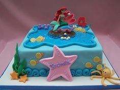 little mermaid cake cute-cakes-cookies-etc
