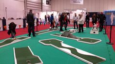 Mobile Crazy Golf at London's ExCel for The Cruise Show Crazy Golf, Promotional Events, Indoor Activities, Shopping Center, Exhibitions, Floors, Cruise, London, Home