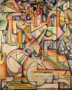 Abstract Painting 1913 by Amadeo de Souza Cardoso