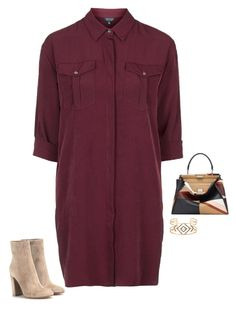 """""""Untitled #1612"""" by quaybrooks on Polyvore featuring Topshop, Gianvito Rossi, Fendi and Stella & Dot"""