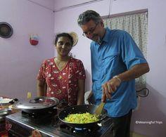 Meaningful Trips founder, Joe Staiano, enjoying a cooking class in Cochin