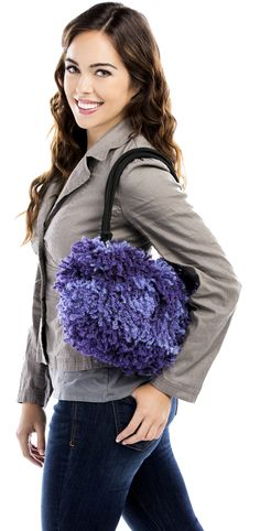 Premier® Yarns Starbella® Reggae® Trendy Textured Bag #knit #pattern
