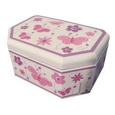 Mele & Co. Kelsey Girl's Glitter-Fly Musical Ballerina Jewelry Box