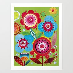 Flower summer Art Print by Marianna Jagoda
