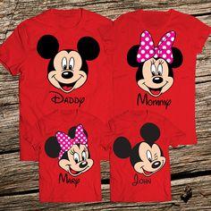 Playeras Estampadas en Vinil - Familia Mickey   Minnie ... 0a10a762f0409